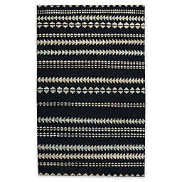 Capel Rugs Genevieve Gorder Scandinavian Stripe 5-Foot x 8-Foot Area Rug in Black