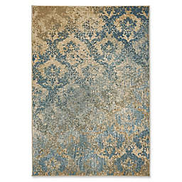 Capel Rugs Kevin O'Brien Cavalcade-Adriatic Indoor/Outdoor Rug in Blue