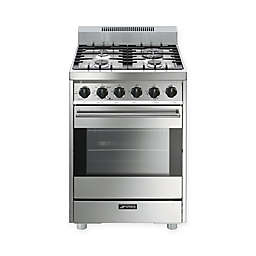 SMEG Pro-Style 24-Inch Free-Standing Gas Range in Stainless Steel