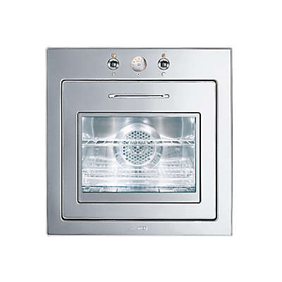 SMEG Piano 24-Inch Thermo-Vent Electric Wall Oven in Polished Stainless Steel