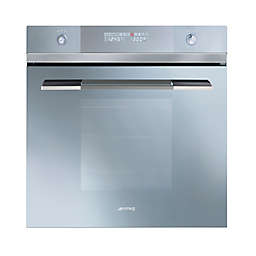 SMEG's Linea 24-Inch Multi-function Electric Wall Oven in Glass/Stainless Steel