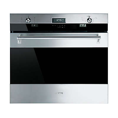 """SMEG Piano 30-Inch """"Classic"""" Electric Multi-Function Wall Oven in Stainless Steel"""