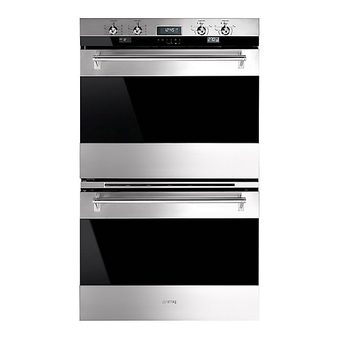 Alternate image 1 for SMEG Classic 30-Inch Electric Double Wall Oven in Stainless Steel