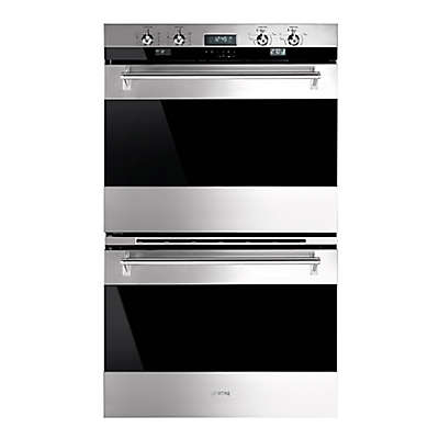 SMEG Classic 30-Inch Electric Double Wall Oven in Stainless Steel