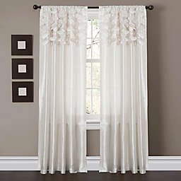 Circle Dream 84-Inch Rod Pocket Window Curtain Panel Pair in White