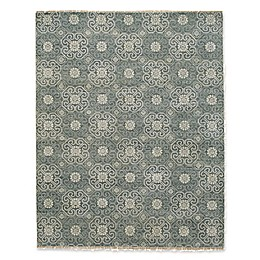 Capel Rugs Burmese Geometric Flowers Rug in Grey