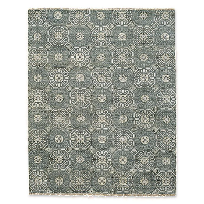 Alternate image 1 for Capel Rugs Burmese Geometric Flowers Rug in Grey