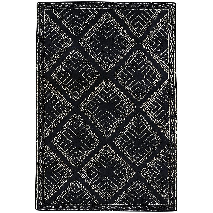 Alternate image 1 for Capel Rugs Fortress Crystal 8-Foot x 11-Foot Area Rug in Black