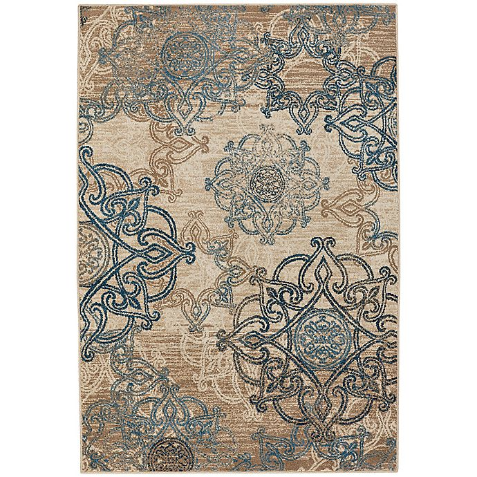Alternate image 1 for Capel Rugs Bethel-Celtic 3-Foot 10-Inch x 5-Foot 5-Inch Indoor/Outdoor Area  Rug in Blue