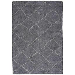 Capel Rugs Nador Indoor/Outdoor 3-Foot 11-Inch x 5-Foot 6-Inch Accent Rug in Grey