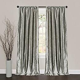 Lush Décor 84-Inch Velvet Dream Rod Pocket Window Curtain Panels in Silver