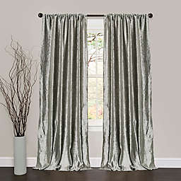 Lush Décor 84-Inch Velvet Dream Light Filtering Rod Pocket Curtain Panels in Silver (Single)