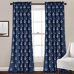 Anchor 84-Inch Room Darkening Window Curtain Panel Pair in Navy