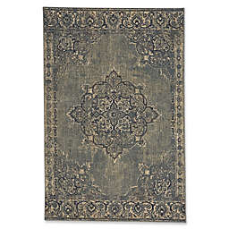 Capel Rugs Cedar Creek Kirman 5-Foot 3-Inch x 7-Foot 8-Inch Indoor/Outdoor Area Rug in Green
