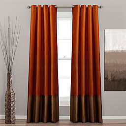 Prima 2-Pack 84-Inch Grommet Window Curtain Panels in Rust/Brown
