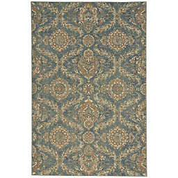 Capel Rugs Cedar Creek Ushak 3-Foot 11-Inch x 5-Foot 10-Inch Indoor/Outdoor Area Rug in Green