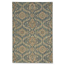 Capel Rugs Cedar Creek Ushak 5-Foot 3-Inch x 7-Foot 8-Inch Indoor/Outdoor Area Rug in Green