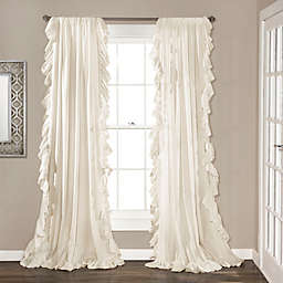 84-Inch Reyna Rod Pocket Window Curtain Panel Pair in Ivory