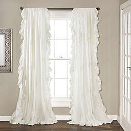 84-Inch Reyna Rod Pocket Window Curtain Panel Pair in White