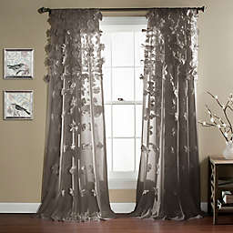 Riley 84-Inch Sheer Rod Pocket Window Curtain Panel