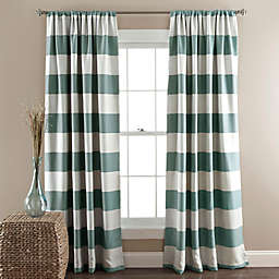 Stripe Room Darkening 84-Inch Rod Pocket Window Curtain Panel Pair