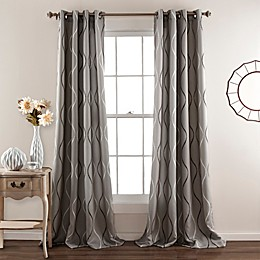 Swirl 2-Pack 84-Inch Room Darkening Grommet Window Curtain Panels