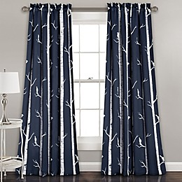 Bird on the Tree Room Darkening Window Curtain Panel Pair