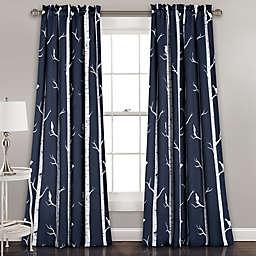 Bird on the Tree Room Darkening Window Curtain Panel Pair (Single)
