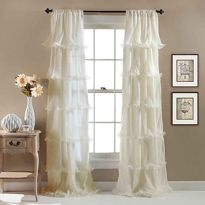 Alternate image 1 for Nernia 84-Inch Rod Pocket Window Curtain Panel in Ivory