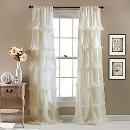 Nernia 84-Inch Rod Pocket Window Curtain Panel in Ivory (Single)