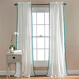 Pom Pom 84-Inch Rod Pocket Window Curtain Panel