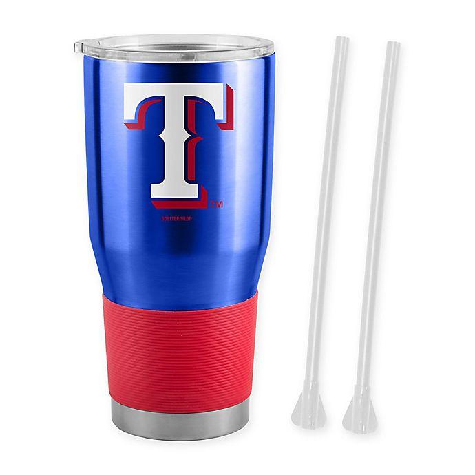 Alternate image 1 for MLB Texas Rangers 30 oz. Ultra Tumbler with Straws