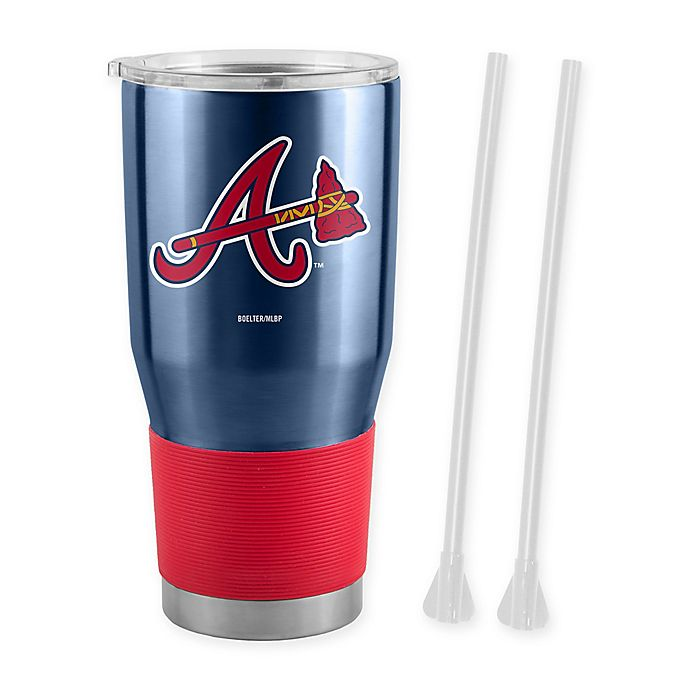 Alternate image 1 for MLB Atlanta Braves 30 oz. Ultra Tumbler with Straws