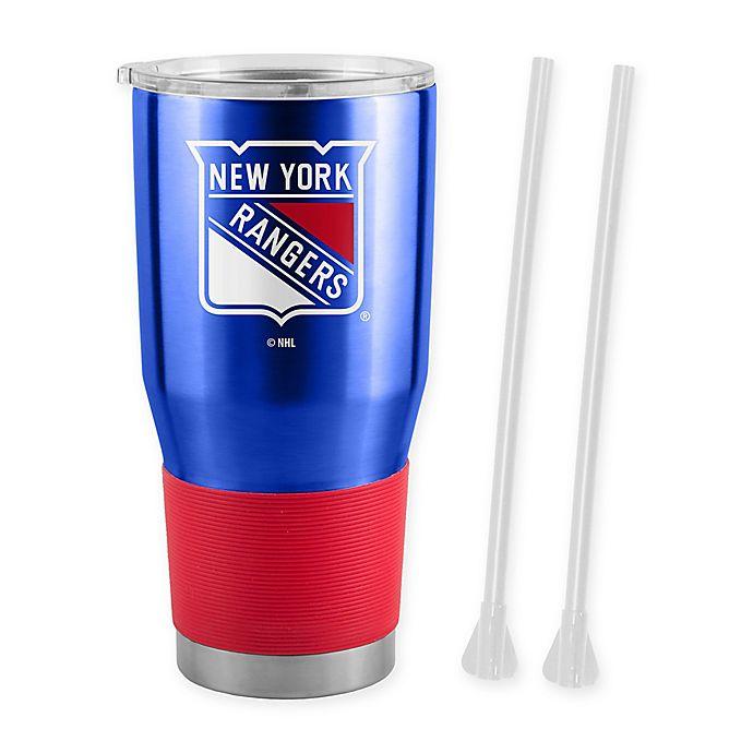 Alternate image 1 for NHL New York Rangers 30 oz. Ultra Tumbler with Straws