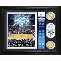 University of North Carolina 2017 NCAA Champions Banner & Bronze Coin Photo Mint Frame