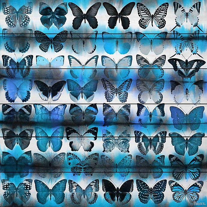Alternate image 1 for Parvez Taj Moth Blue 24-Inch x 24-Inch Pinewood Wall Art