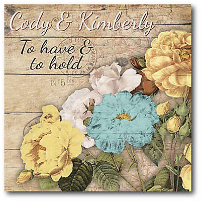 """Courtside Market """"To Have & To Hold"""" Bouquet Canvas Wall Art"""