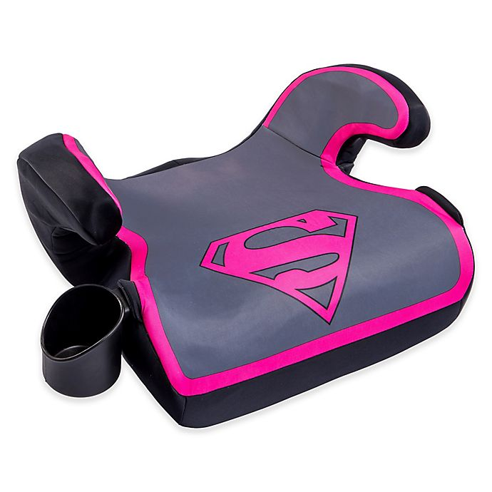 Alternate image 1 for KidsEmbrace DC Comics Supergirl Ultra Backless Booster Car Seat