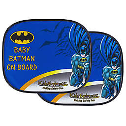 "KidsEmbrace DC Comics ""Baby Batman On Board"" Window Shades (Set of 2)"