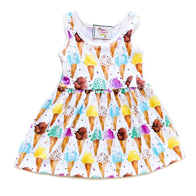 Alternate image 1 for Pickles N' Roses™ Size 0-6M Ice Cream Cone Day Dress