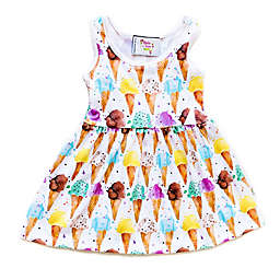 Pickles N' Roses™ Ice Cream Cone Day Dress