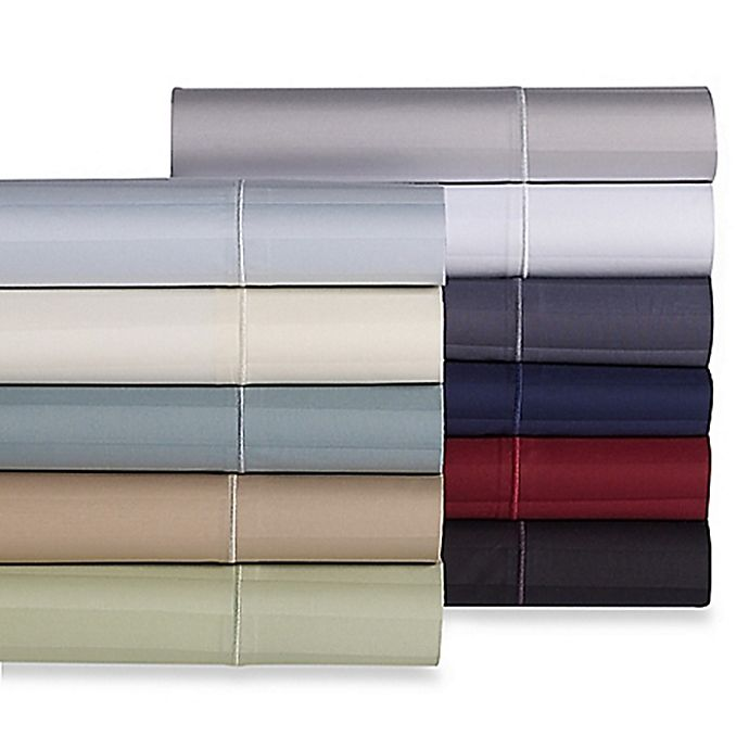 Alternate image 1 for Wamsutta® Stripe 500-Thread-Count PimaCott® Sheet Set