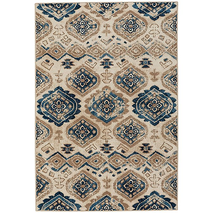 Alternate image 1 for Capel Rugs Bethel-Diamond 3-Foot 10-Inch x 5-Foot 5-Inch Indoor/Outdoor Area Rug in Blue