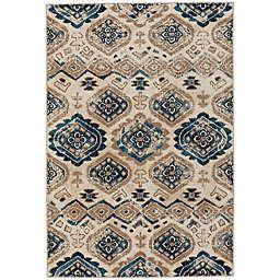 Capel Rugs Bethel-Diamond 7-Foot 8-inch x 10-Foot 10-Inch Indoor/Outdoor Area Rug in Blue