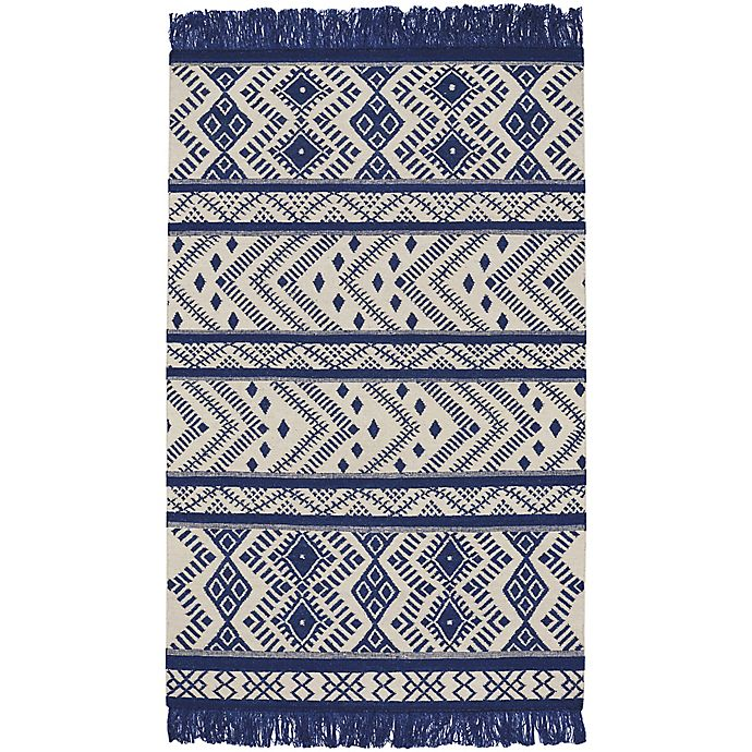 Alternate image 1 for Capel Rugs Genevieve Gorder Abstract 7-Foot x 9-Foot Area Rug in Blue