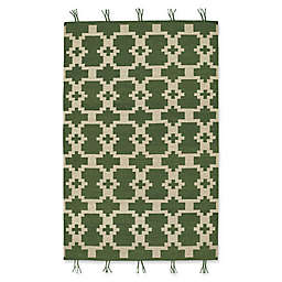 Capel Rugs Genevieve Gorder Hyland 5-Foot x 8-Foot Area Rug in Green