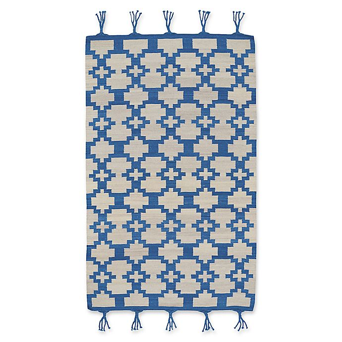 Alternate image 1 for Capel Rugs Genevieve Gorder Hyland 5-Foot x 8-Foot Area Rug in Blue