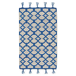 Capel Rugs Genevieve Gorder Hyland 5-Foot x 8-Foot Area Rug in Blue