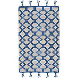 Capel Rugs Genevieve Gorder Hyland 7-Foot x 9-Foot Area Rug in Blue