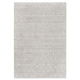Capel Rugs Channel Floral I 5-Foot 3-Inch x 7-Foot 6-Inch Area Rug in Silver